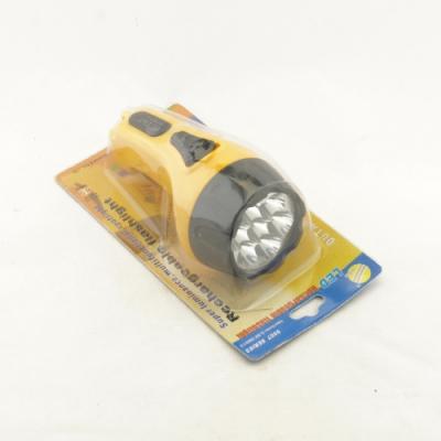 Фонарь аккум. GD65 блистер (к.100) жёлтый