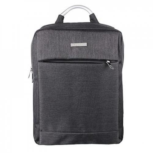 Рюкзак подростковый 42x30x15см, 1 отд., накладной карман, метал.ручка, полиэстер «под ткань«, черный