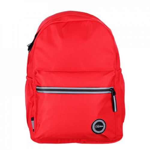 Рюкзак подростковый, 40x28x16см, 1 отд., 3 кармана, уплотненные лямки, гладкий нейлон, красный