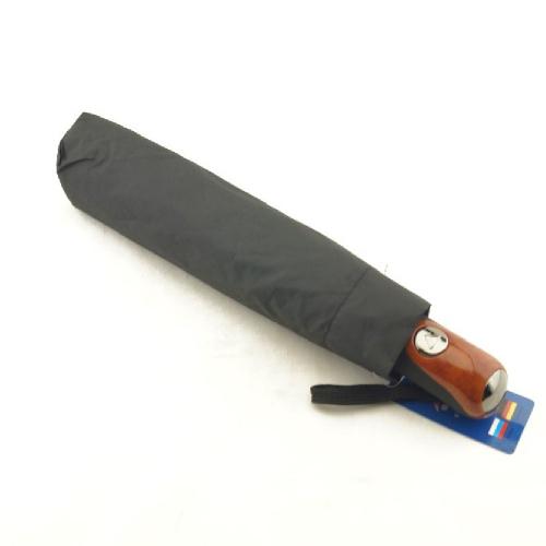 Зонт мужской полуавтомат черный 0054