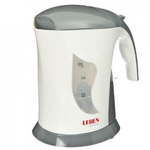 Чайник электрический 1,0л, LEBEN 1000Вт, спиральный нагр.элемент