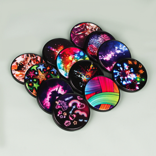 Зеркало карманное, стекло, пластик, d6,8см, 12 дизайнов ЮниLook