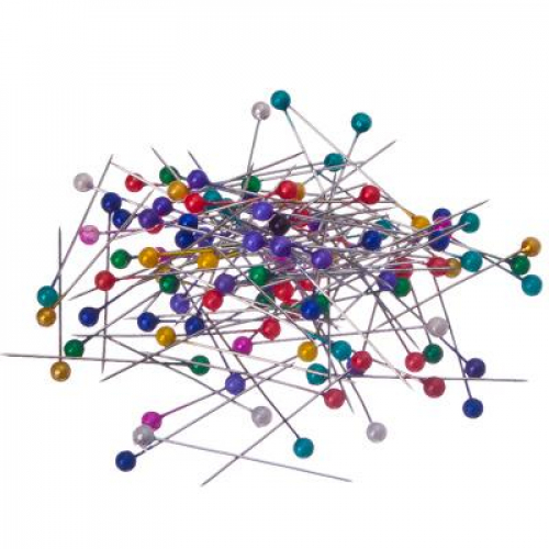 Набор английских булавок с цвет.головками,3,5см