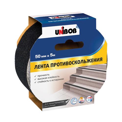 Клейкая лента противоскольжения 50мм х 5м черный UNIBOB ИУ (24) арт.39293 РСВ-312243