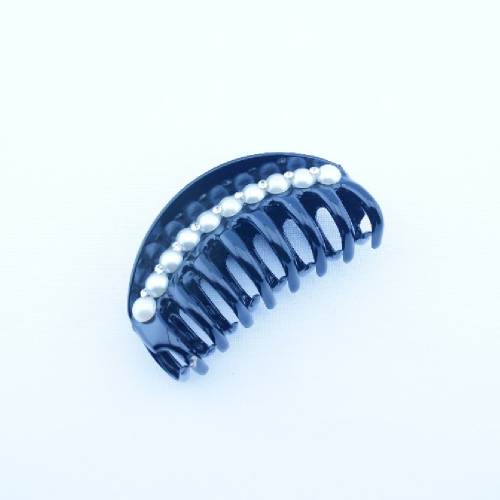 Краб  пластик стразы+жемчуг 10см RA5-335 12 шт