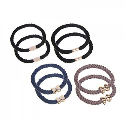 Набор резинок для волос 2шт, полиэстер, пластик, d5,5см, 3 цвета, 3229-10 BERIOTTI