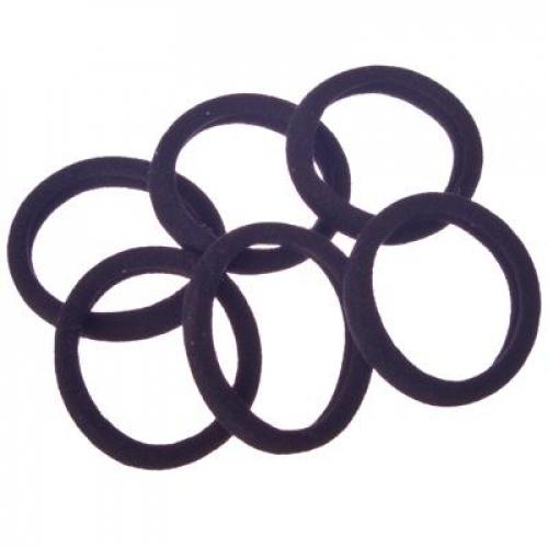 Набор резинок для волос 6шт, 4см, полиэстер, черные, BL-01