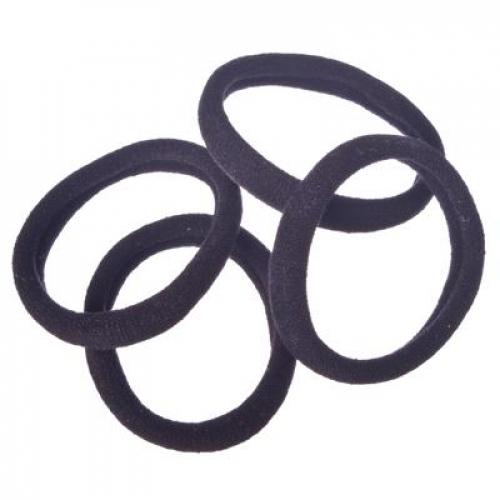 Набор резинок для волос 4шт, 5см, полиэстер, черные, BL-01