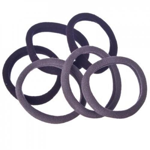 Набор резинок для волос 6шт, 4см, полиэстер, 2 цвета, арт. GR-02