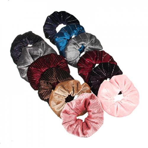 Резинка для волос с люрексом, d10см, полиэстер, 2 дизайна