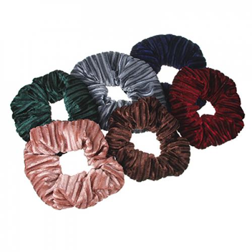 Резинка для волос, d=10 см, полиэстер, 6 цветов, РВ-01