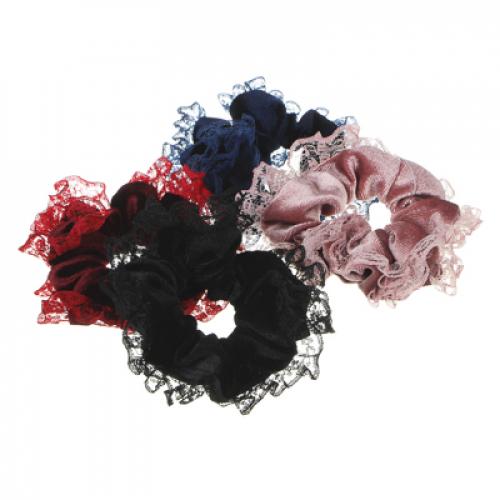 Резинка для волос, полиэстер, d=10см, 3-4 цвета, РВ2019-8 BERIOTTI