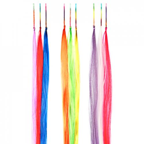 Цветные пряди волос на невидимках, длина 25-28см, ПВХ, 3 дизайна BERIOTTI