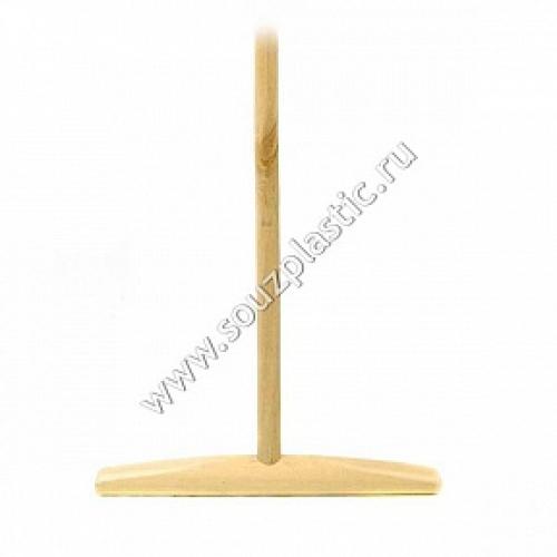 Швабра деревянная (ручка 25 мм, 1.2-1.3 м) Высший сорт(сухой) ( 1021 ) 40-0105