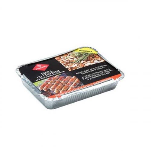 Щепа для копчения колбасок со специями в лотке (дуб,ольха,сванская соль) 1,27 л ДС-263
