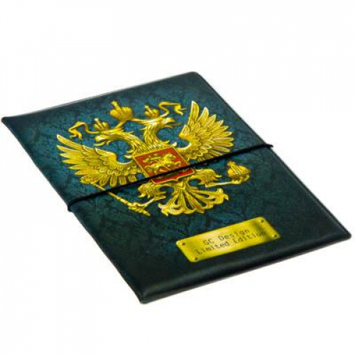 Обложка для паспорта с удерживающей резинкой, с отд. для вод.удостов, ПВХ, 13,7х9,6х0,4см, SC2016-20