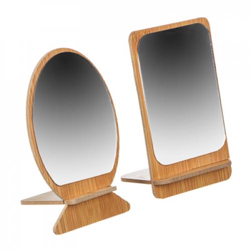 Зеркало настольное, стекло, МДФ, 8,3х13,5см, 2 дизайна ЮниLook