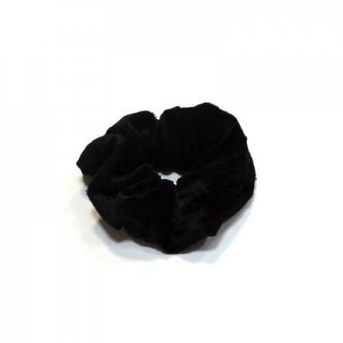 Резинка для волос бархат, d6см, полиэстер, 6 цветов, арт.205