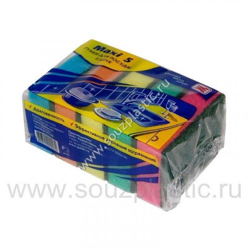 Губка для посуды 2-х шт. метал. КН-2559