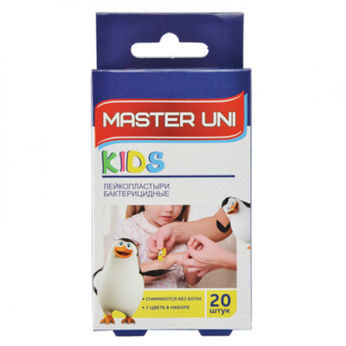 Лейкопластырь бактерицидный Master Uni «Детский«№20