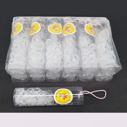 Резинка для волос силикон в тубе   RA-574/12шт