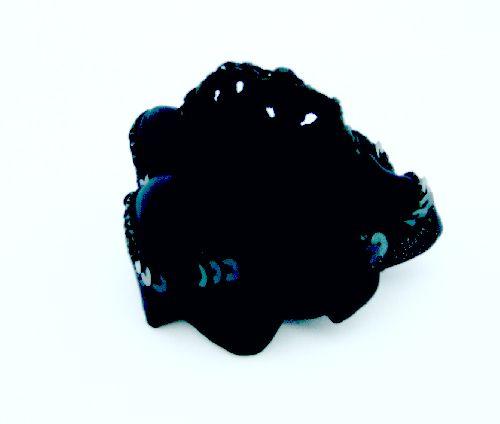 Заколка-сетка на пучок для волос черная ТA-113/20шт