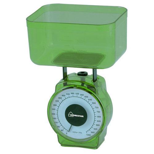 Весы кухонные механические HOMESTAR HS-3004М, 1 кг, цвет зеленый арт.002796 РСВ-231320