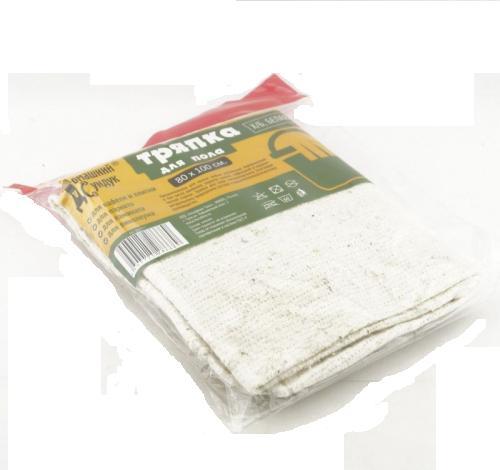 Тряпка для пола «Домашний сундук« Х/Б БЕЛАЯ овер.80*100 см