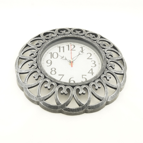 Часы настенные круг 21 век d=30см, корпус с серебром «Классика« 3016-005