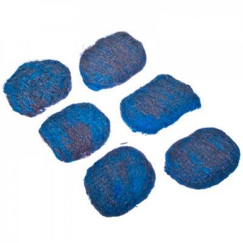 Набор губок 6шт металлических с мылом, 60гр., 6,5х4,5см VETTA