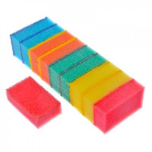 Набор губок для мытья посуды «Прима« 10шт, VETTA 8х5х2,5см