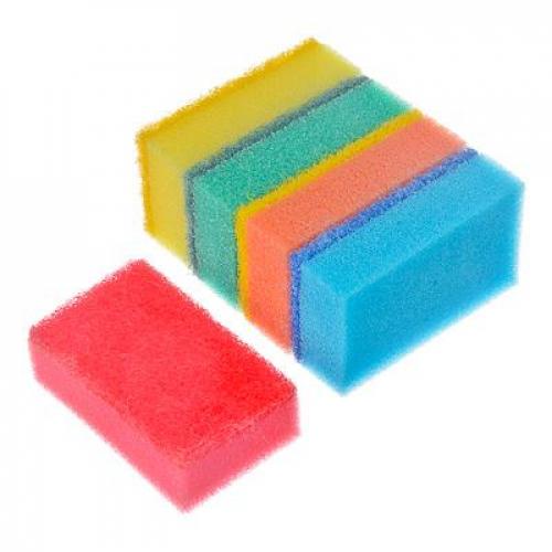 Набор губок для мытья посуды «Прима« 5шт, VETTA 8х5х2,5см