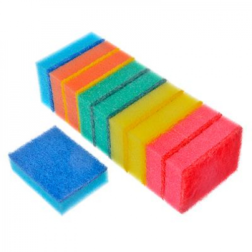 Набор губок для мытья посуды «Премиум« 10шт, VETTA 9х6,5х2,5см