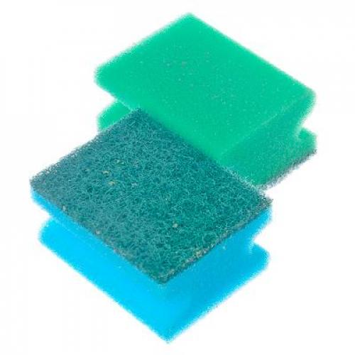 Набор губок для мытья посуды «Профи« 2шт, VETTA 8,5х6,5х4,3см