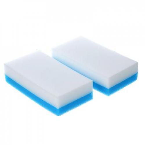 Набор губок-ластиков 2-в-1, 12х6,5х3см, 2 шт, меламин, полиуретан VETTA