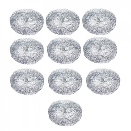 Набор губок металлических 10шт x 10г, оцинкованная сталь VETTA