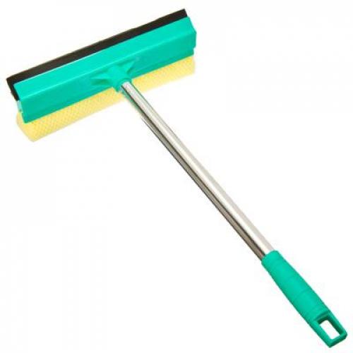 Окномойка со стальной ручкой 28cm зеленая арт.KFC002