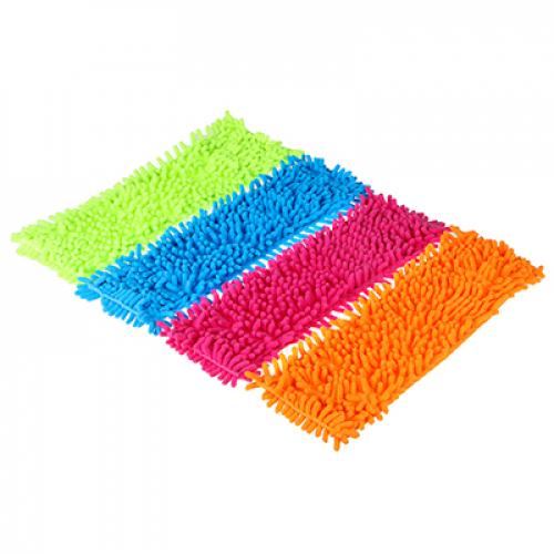 Насадка эконом для швабры из микрофиб., без подкладки, 12х40см, «Лапша«, 4 цвета, вес 50 г. VETTA
