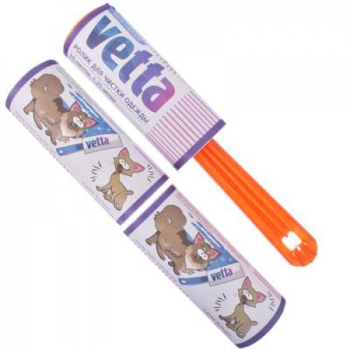Ролик для чистки одежды + 2 сменных блока  10листов VETTA