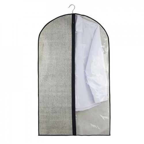 Чехол для одежды с прозрачным окном, 60х100см, искусственный лен, полиэтилен VETTA
