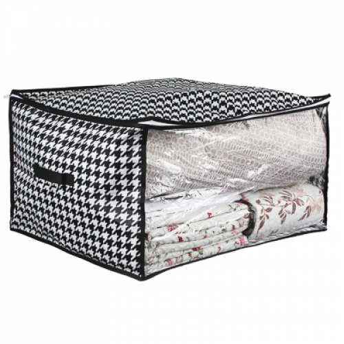 Кофр для подушек и одеял с прозрачным окном, 60х50х35см, спанбонд, ПЕВА VETTA Элеганте