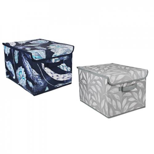 Кофр для хранения с крышкой, 30х40х25см, спанбонд, 2 дизайна VETTA Санремо