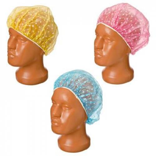 Набор шапочек для душа 8шт, ПВХ, цветные
