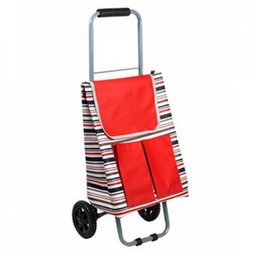 Тележка + сумка, грузоподъемность до 30кг, брезент, ЭВА, 32х22х86см, колесо d13,5см, WQ-162