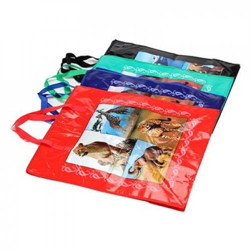 Сумка хозяйственная с рисунком, нетканый материал, 50х55х23см, 4 цвета