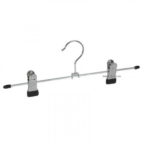 Вешалка метал.с зажимами для брюк (к.400)/10шт S-1749