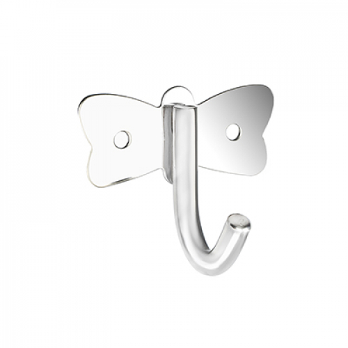 Крючок бабочка с креплением, металл Sonwelle