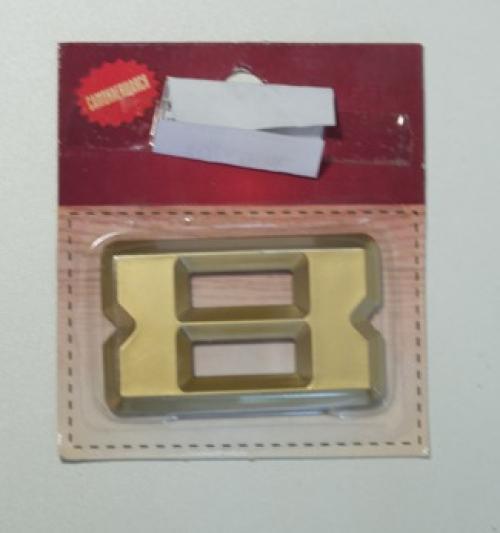 Номер дверной KORAL (8)золото(блистер)