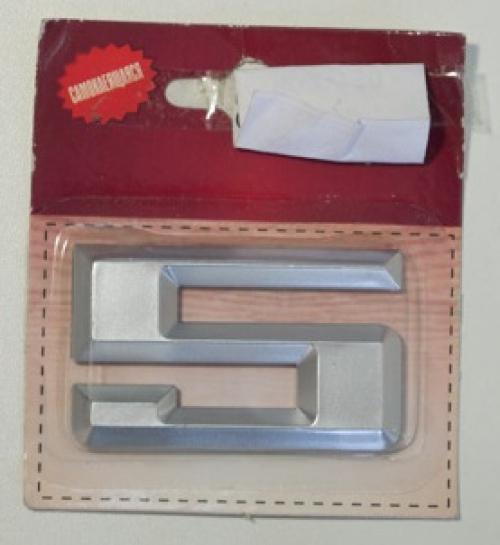 Номер дверной KORAL (5)хром(блистер)
