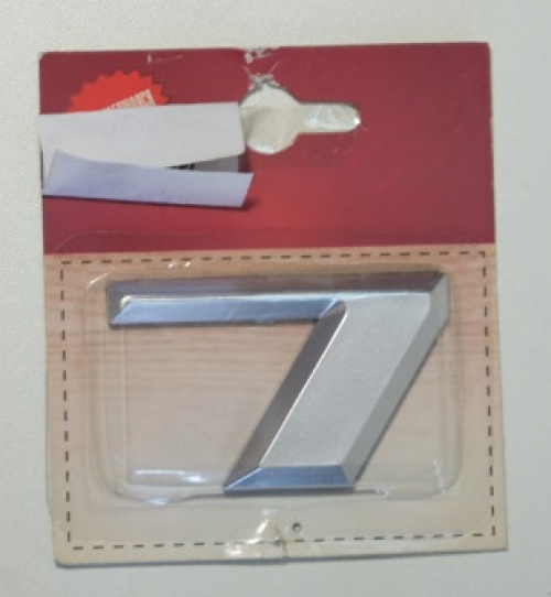 Номер дверной KORAL (7)хром(блистер)